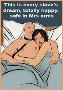 schiavo dorme con mistress dopo sessione